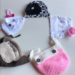 Mud Pie, GAP, Sanrio Baby Beanie Hat Bundle Of 5
